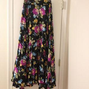 Vintage Maxi Floral Skirt